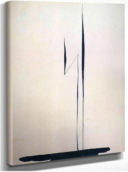 Black Lines 1 By Georgia O Keeffe