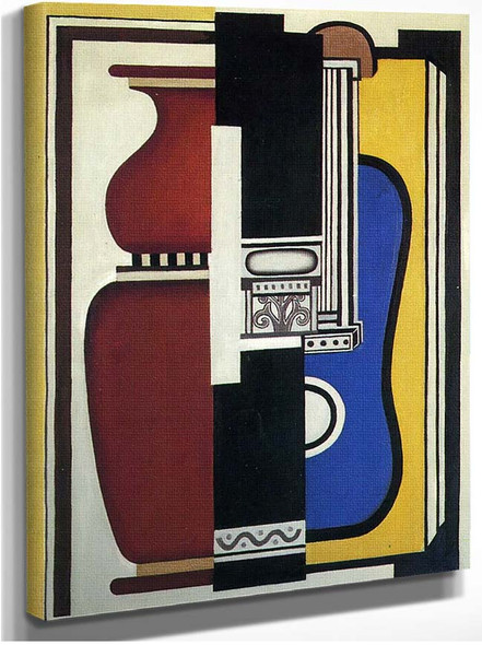 Blue Guitar And Vase 1926 By Fernand Leger