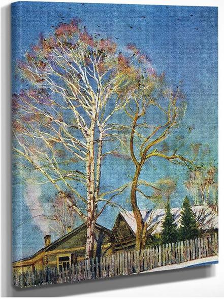 Blue Morning Rooks On The Birches Ligachevo 1930 By Konstantin Yuon