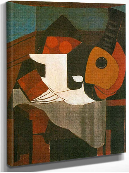 Book Bowl Of Fruit And Mandolin By Pablo Picasso