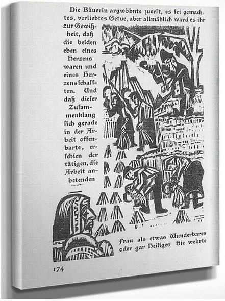 Book Illustration Side Of The Military Road By Ernst Ludwig Kirchner