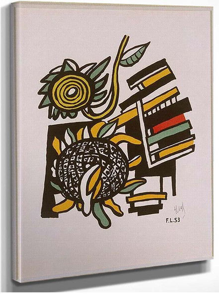 Both Sunflowers Sunflowers 1954 By Fernand Leger