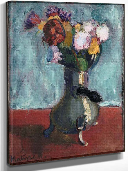 Bouquet Of Flowers In Chocolate 1902 By Henri Matisse