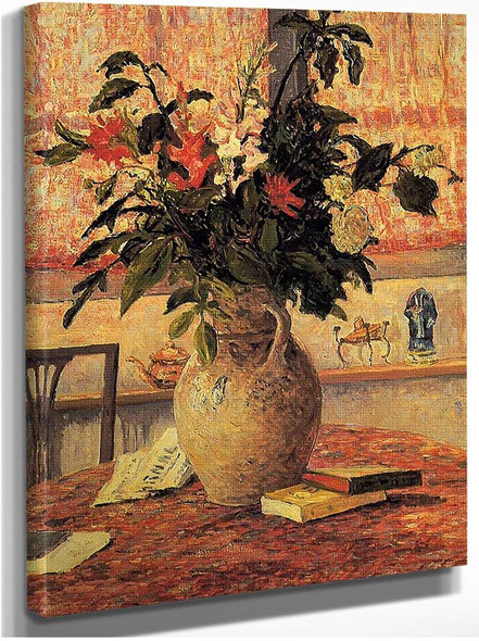 Bouquet Of Flowers In Front Of A Window By Maxime Maufra