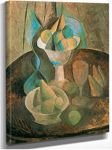 Bowl Of Fruit And Wine Glass By Pablo Picasso
