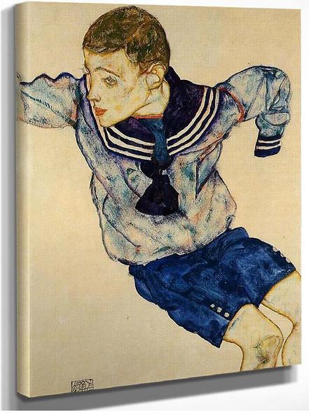 Boy In A Sailor Suit 1913 By Egon Schiele