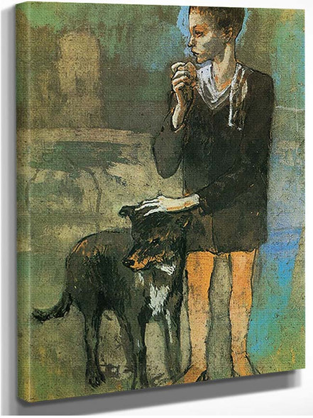 Boy With A Dog By Pablo Picasso
