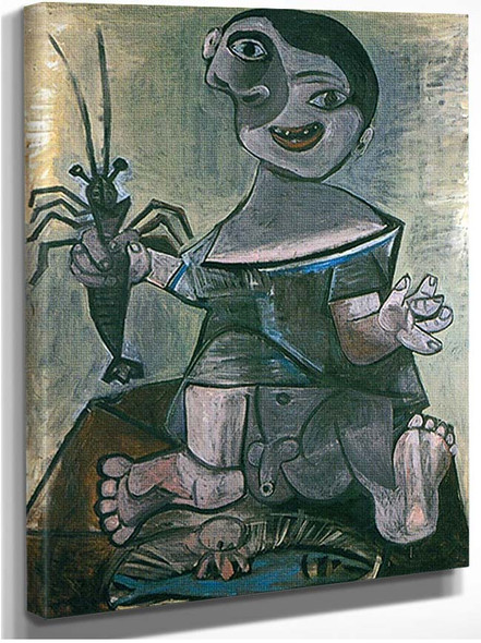 Boy With Lobster 8 By Pablo Picasso