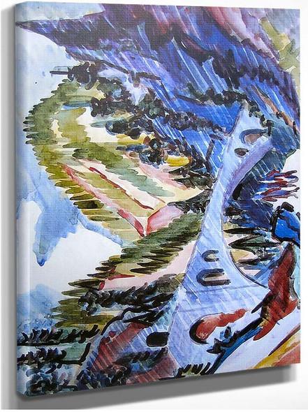 Bridge In Landwassertal By Ernst Ludwig Kirchner