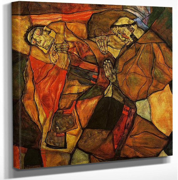 Agony 1912 By Egon Schiele Art Reproduction from Wanford.