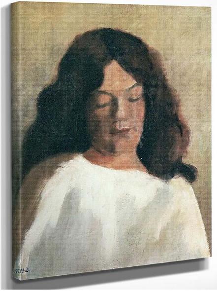 Brustbild Einer Jungen Frau Mit Offenem Haar By Paula Modersohn Becker