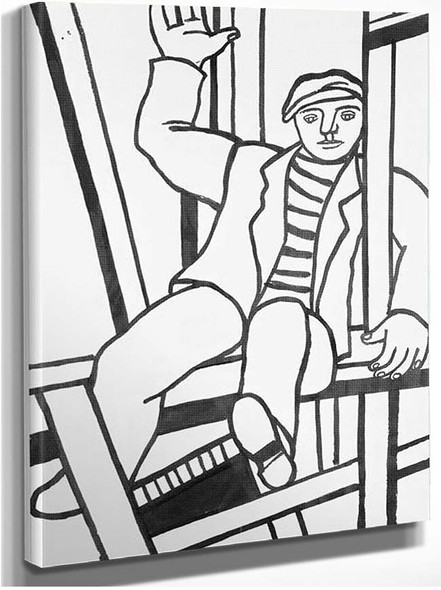 Builder Character In The Framework By Fernand Leger