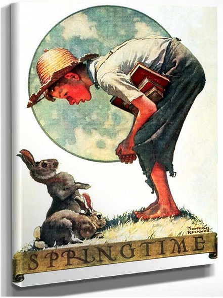 Bunny Boy By Norman Rockwell