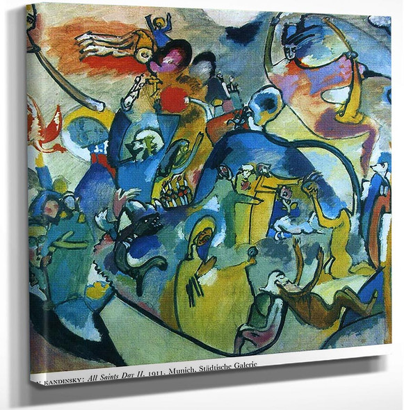 All Saints Day Ii 1911 By Wassily Kandinsky Art Reproduction from Wanford.