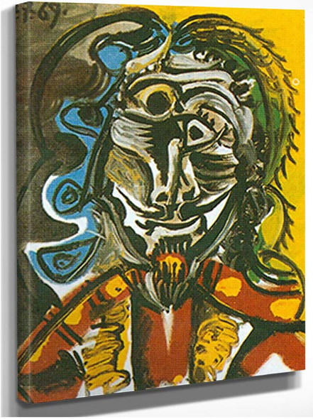 Bust Of A Man By Pablo Picasso
