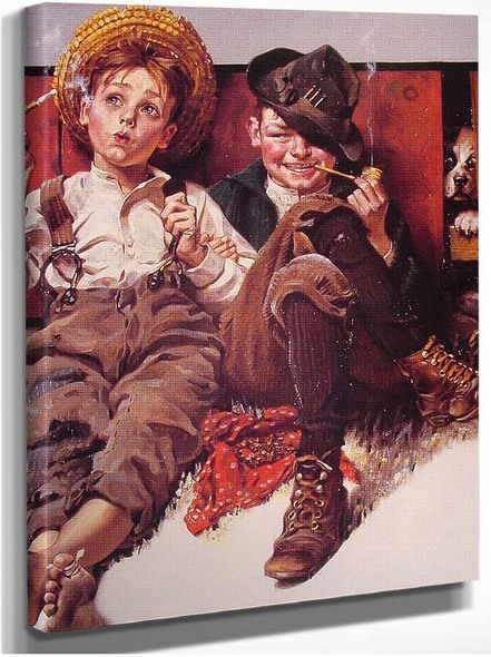 But Wait 0Til Next Week 1920 By Norman Rockwell
