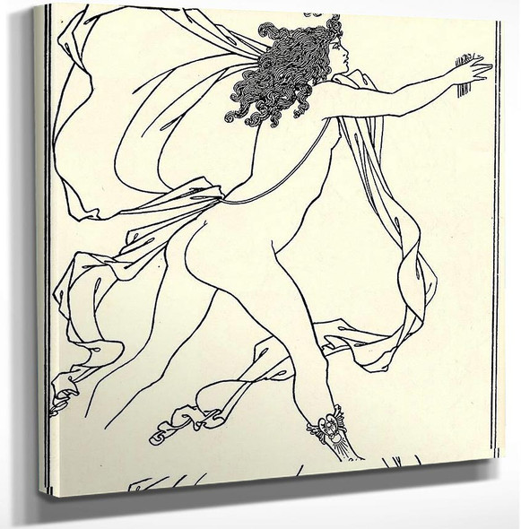 Apollo Pursuing Daphne 1896 By Aubrey Beardsley Art Reproduction from Wanford.