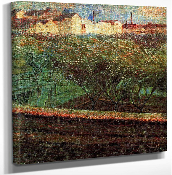 April Evening 1908 By Umberto Boccioni Art Reproduction from Wanford.