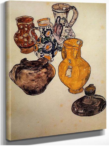 Ceramics 1918 By Egon Schiele