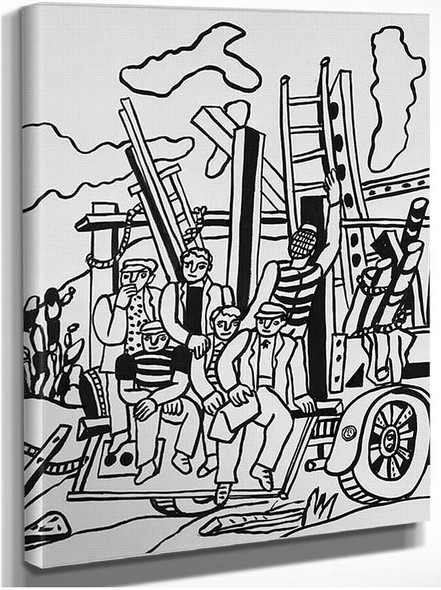 Characters In The Truck By Fernand Leger