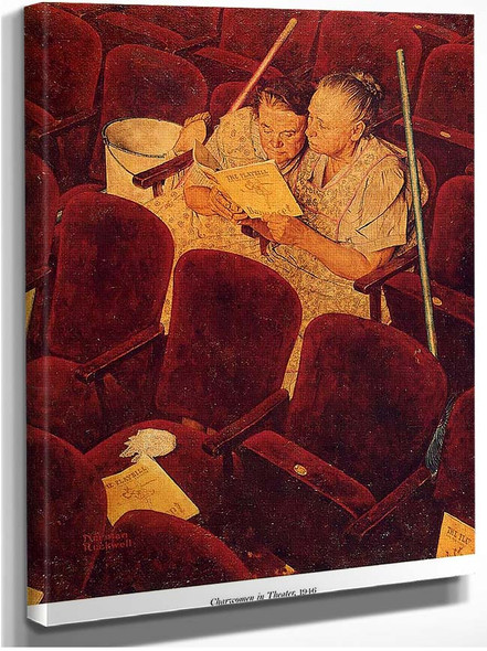 Charwomen In Theater 1946 By Norman Rockwell