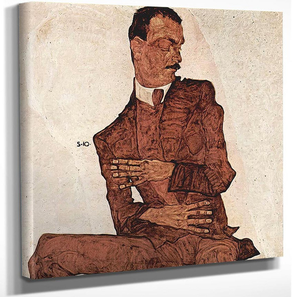 Arthur Roessler 1910 By Egon Schiele Art Reproduction from Wanford.