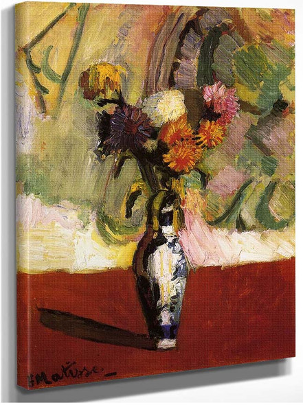 Chrysanthemums In A Chinese Vase 1902 By Henri Matisse