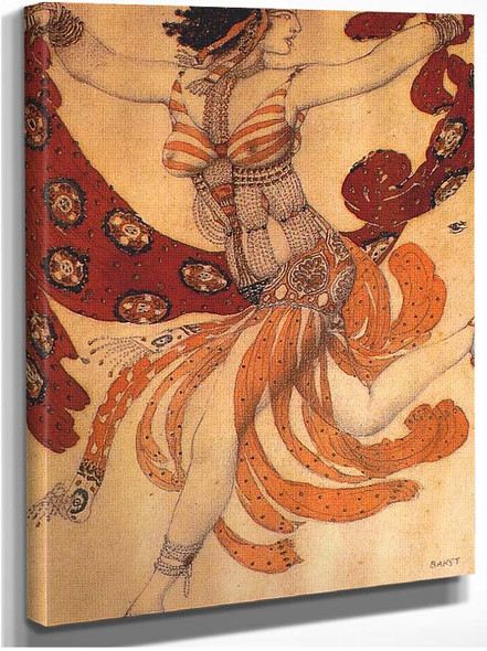 Cleopatre A Dancer 1909 By Leon Bakst