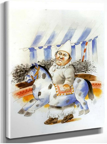 Clown And Horse By Fernando Botero