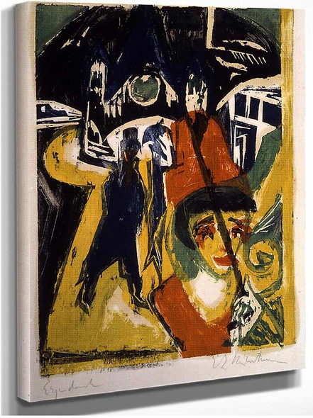 Cocotte On The Road By Ernst Ludwig Kirchner