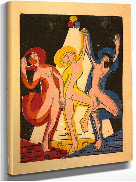Colourful Dance By Ernst Ludwig Kirchner