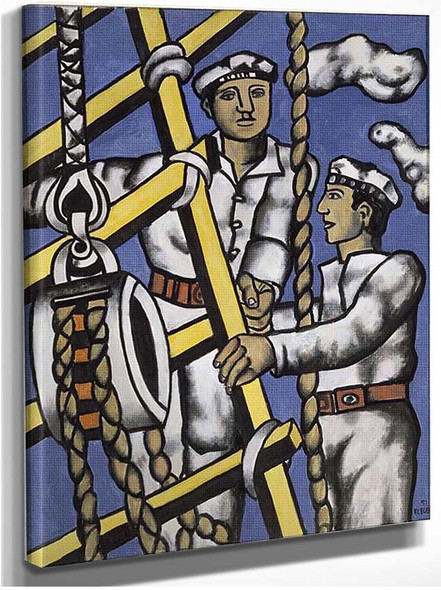 Composition With Two Sailors 1951 By Fernand Leger
