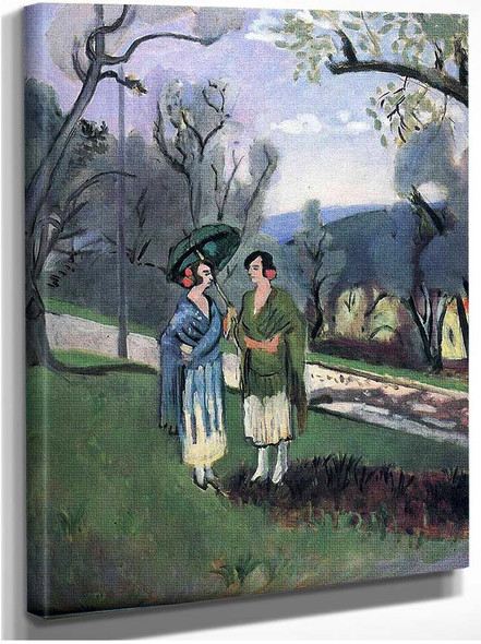 Conversation Under The Olive Trees 1921 By Henri Matisse