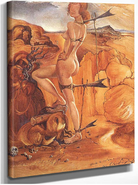 Costume For A Nude With A Codfish Tail By Salvador Dali