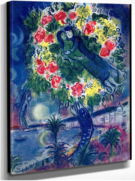 Couple And Fish 1964 By Marc Chagall
