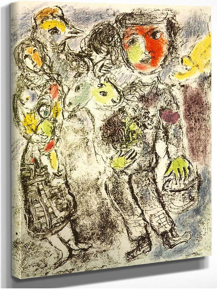 Couple Of Peasants 1967 By Marc Chagall
