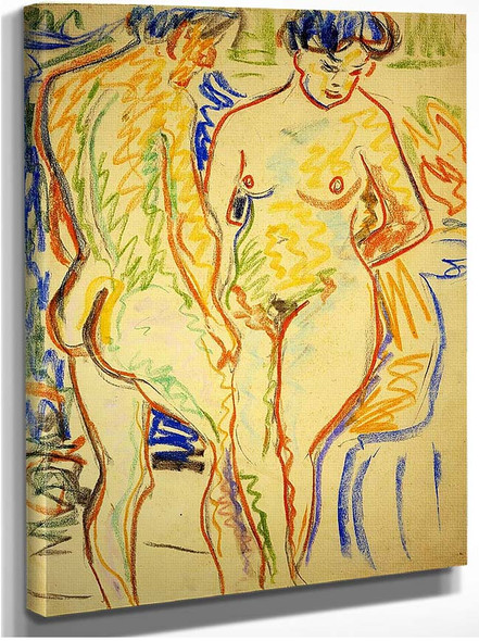 Couple By Ernst Ludwig Kirchner