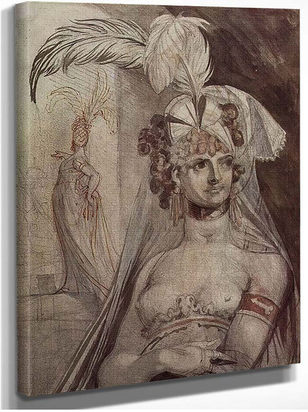Courtesan With Plume And Veil By Henry Fuseli