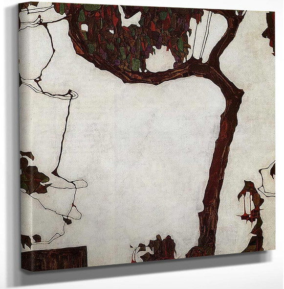 Autumn Tree With Fuchsias 1909 By Egon Schiele Art Reproduction from Wanford.