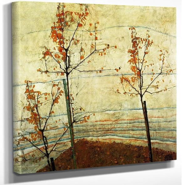 Autumn Trees 1911 By Egon Schiele Art Reproduction from Wanford.