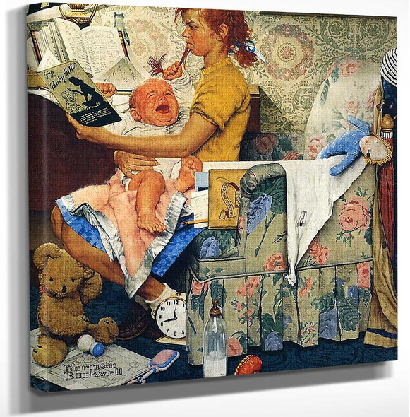 Babysitter By Norman Rockwell Art Reproduction from Wanford.