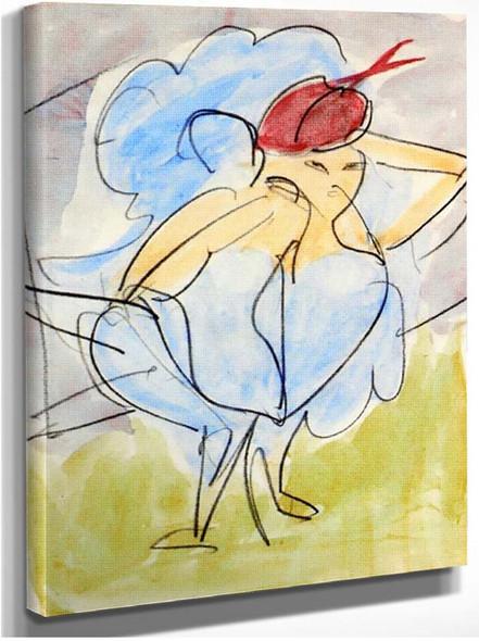 Dancer 1912 By Ernst Ludwig Kirchner