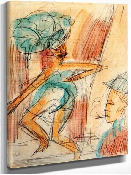 Dancer And Audience 1917 By Ernst Ludwig Kirchner
