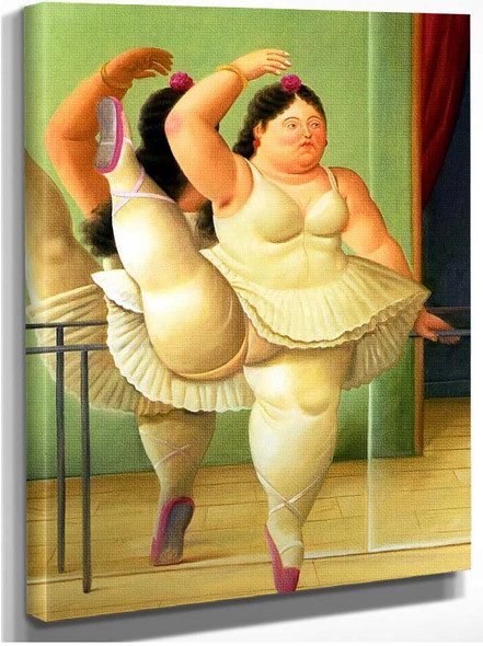 Dancer At The Barre By Fernando Botero