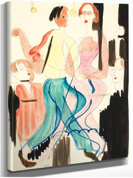 Dancing Couple By Ernst Ludwig Kirchner