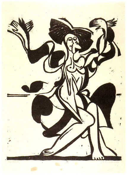 Dancing Mary Wigman By Ernst Ludwig Kirchner Art Reproduction from Wanford