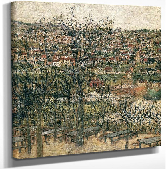 Bancs A Montmagny by Maurice Utrillo Art Reproduction from Wanford.
