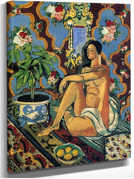 Decorative Figure On An Ornamental Background 1925 By Henri Matisse