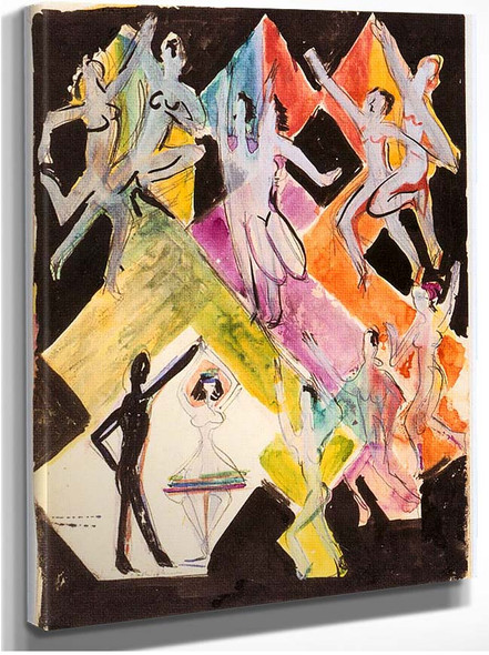 Design For The Wall Painting Colourful Dance By Ernst Ludwig Kirchner