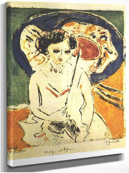 Dodo With A Japanese Umbrella 1 By Ernst Ludwig Kirchner